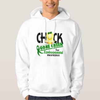 Verde ido polluelo ambiental 2 pulóver con capucha