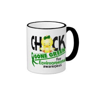 Verde ido polluelo ambiental 2 taza de dos colores