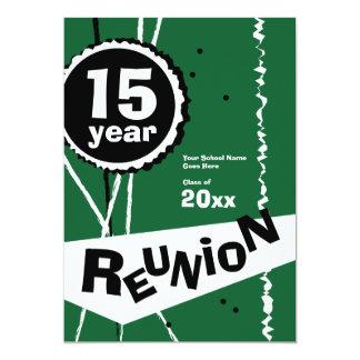 Verde invitación de la reunión de antiguos alumnos