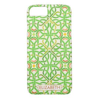 Verde irlandés Basketweave moderno de la trenza Funda iPhone 7