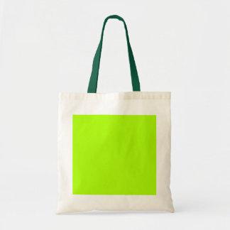 Verde lima brillante de encargo bolso de tela