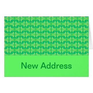 Verde lima brillante de la nueva dirección tarjeta de felicitación