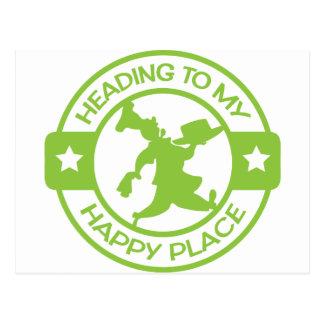 Verde lima feliz del chef de repostería del lugar postal