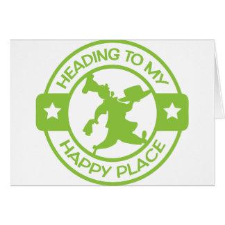 Verde lima feliz del chef de repostería del lugar  tarjeta de felicitación