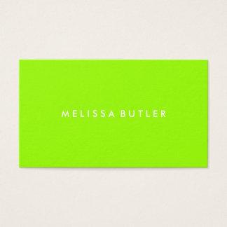 Verde lima profesional minimalista tarjeta de negocios
