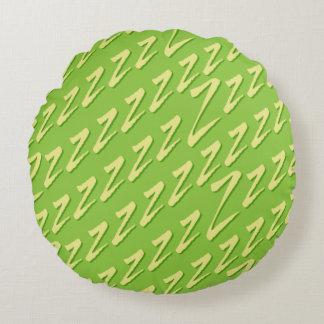 Verde lima redonda que coge los z cojín redondo