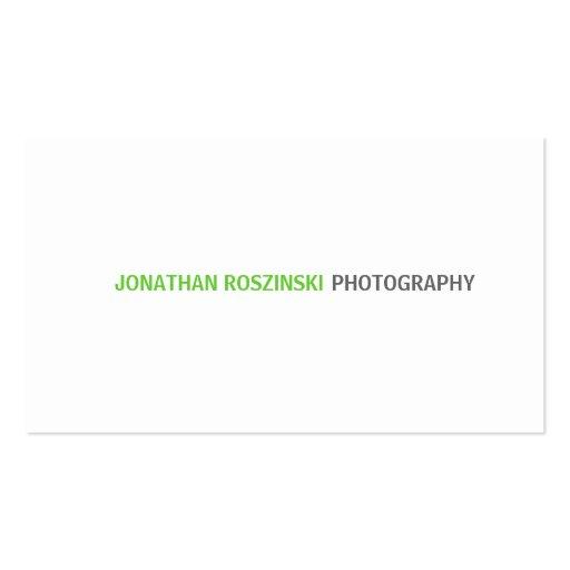Verde lima simple del texto tarjetas de negocios