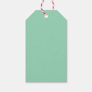 Verde menta etiquetas para regalos