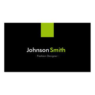 Verde menta moderna del diseñador de moda tarjetas de visita