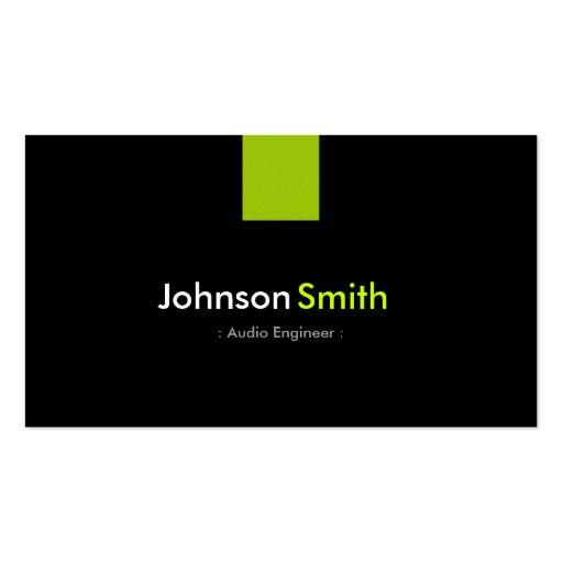 Verde menta moderna del ingeniero audio plantilla de tarjeta de negocio