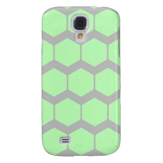 Verde menta y gris, Pern. geométrico retro Funda Para Samsung Galaxy S4
