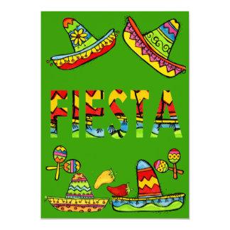 Verde mexicano de las invitaciones de Cinco de Invitación 12,7 X 17,8 Cm