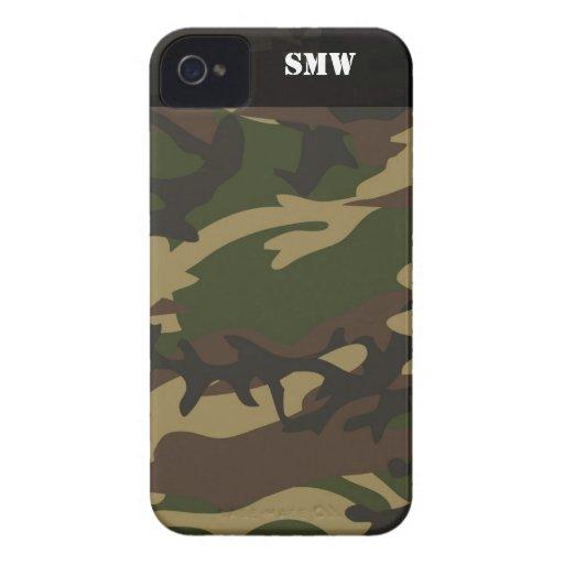 Verde militar de Camoflauge Camo personalizado iPhone 4 Case-Mate Coberturas