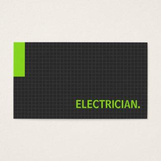 Verde múltiple del propósito del electricista tarjeta de negocios