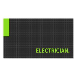 Verde múltiple del propósito del electricista tarjetas de visita