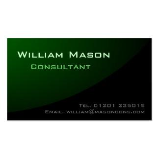 Verde negro curvado, tarjeta de visita profesional
