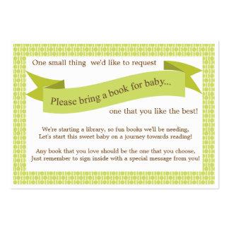 Verde neutral de la tarjeta de la petición del tarjetas de visita grandes