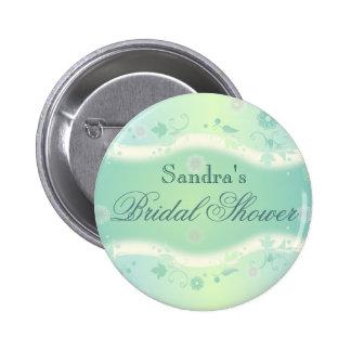 Verde nupcial elegante del botón de la ducha del d pins