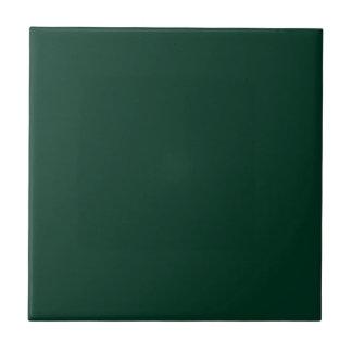 Verde oscuro azulejo cuadrado pequeño