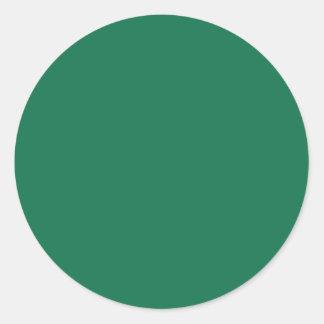 Verde oscuro pegatina redonda