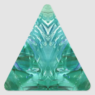 verde pegatina triangular