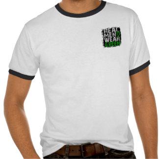 Verde real del desgaste de hombres de la camiseta