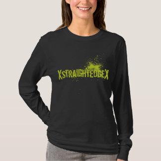 Verde recto del borde camiseta
