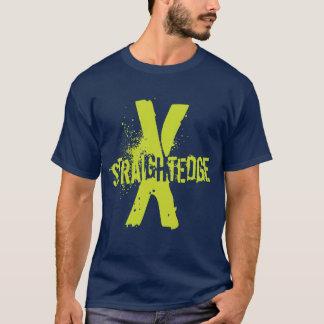Verde recto del borde X Camiseta