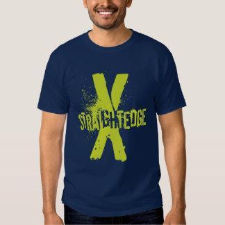 Verde recto del borde X Camisetas