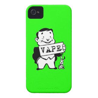 Verde retro rechoncho de Vape del hombre iPhone 4 Case-Mate Fundas