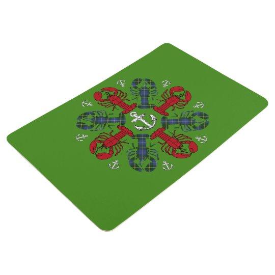 Verde rojo del ancla N.S.Christmas del copo de Alfombra