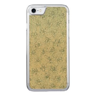 Verde salvia floral del vintage funda para iPhone 8/7 de carved