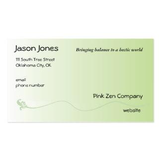 Verde sombreado con la línea de la flor de lis tarjetas de visita