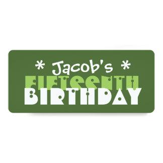 Verde T06V de la fiesta de cumpleaños del Invitación 10,1 X 23,5 Cm