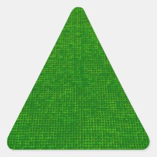 verde tejido de la estructura pegatina triangular