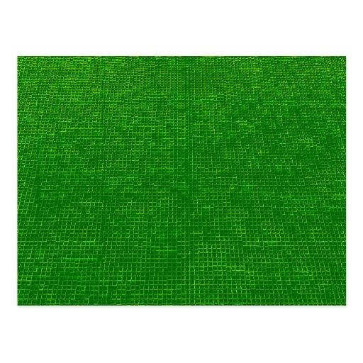 verde tejido de la estructura tarjeta postal