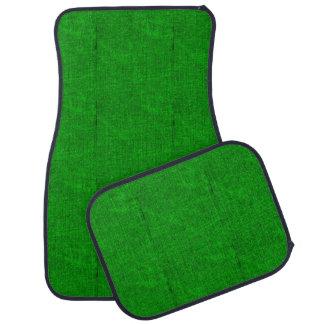 Verde texturizado alfombrilla de coche