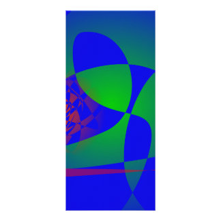 Verde translúcido en fondo azul lona publicitaria
