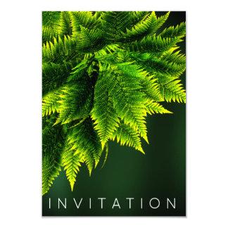 Verde tropical de Cali del verdor de la cena del Invitación 8,9 X 12,7 Cm
