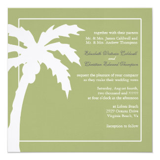 Verde tropical del Invitación-musgo del boda de la