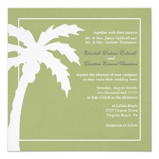 Verde tropical del Invitación-musgo del boda de la Invitación 13,3 Cm X 13,3cm