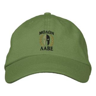 Verde verde oliva de los laureles espartanos del gorras bordadas