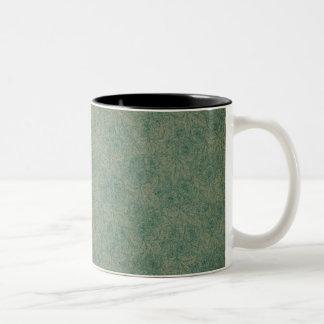 Verde vibrante taza de café de dos colores