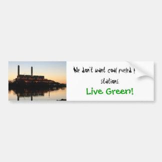 ¡Verde vivo! pegatina para el parachoques Pegatina Para Coche