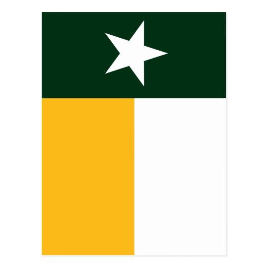 Verde y bandera de Tejas del oro Postal