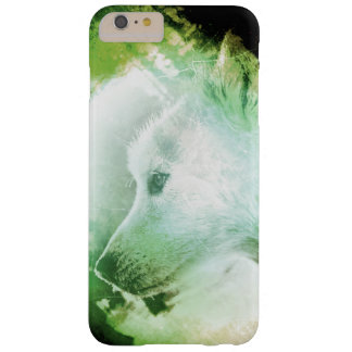 Verde y blanco artísticos bonitos de la cara del funda de iPhone 6 plus barely there