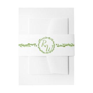 Verde y blanco selváticos de la vid de la cintas para invitaciones