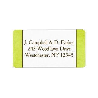 Verde y Brown de la pera de la etiqueta el   del Etiquetas De Dirección
