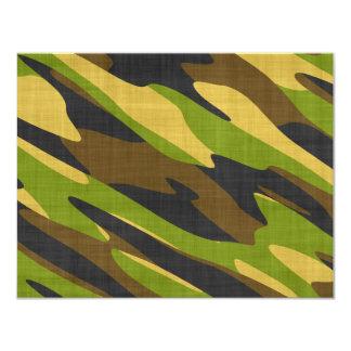 Verde y camuflaje del ejército de Brown Invitacion Personal