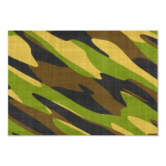 Verde y camuflaje del ejército de Brown Invitación 8,9 X 12,7 Cm